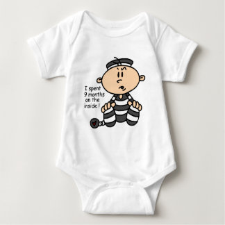 9 Months On The Inside Baby Prisoner Baby Bodysuit