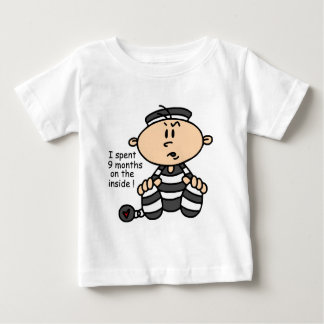 9 Months On The Inside Baby Prisoner Baby T-Shirt