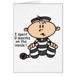 9 Months On The Inside Baby Prisoner Card