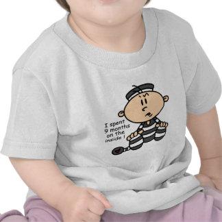 9 Months On The Inside Baby Prisoner T Shirt