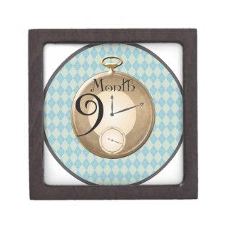 9 Months Pocket Watch Milestone Gift Box