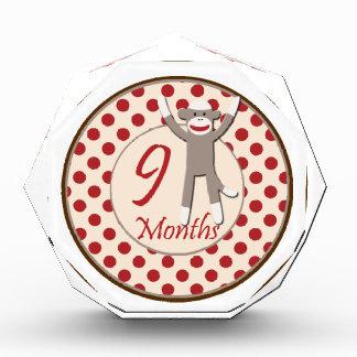 9 Months Sock Monkey Milestone Award