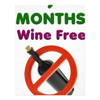 9 months wine free, pregnant woman, pregnancy baby letterhead