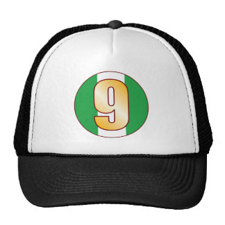 9 NIGERIA Gold Trucker Hat