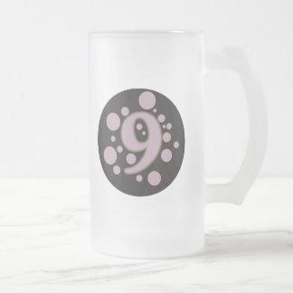 9-Nine Frosted Glass Beer Mug