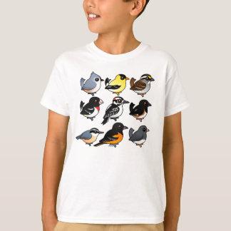 9 Northeast USA Backyard Birds T-Shirt