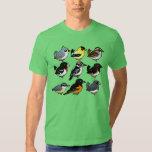 9 Northeast USA Backyard Birds T Shirt