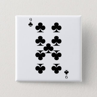 9 of Clubs Button