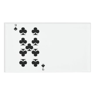 9 of Clubs Name Tag