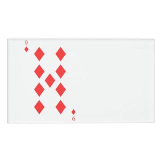 9 of Diamonds Name Tag