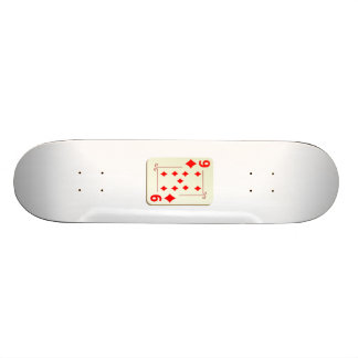 9 of Diamonds Playing Card Skate Board Decks