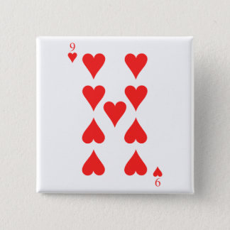 9 of Hearts Pinback Button