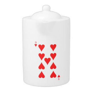 9 of Hearts Teapot