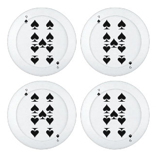 9 of Spades Button Covers