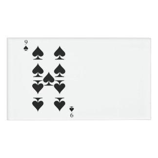 9 of Spades Name Tag