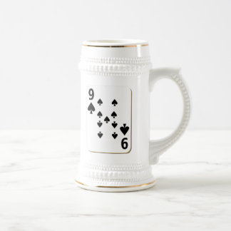 9 of Spades Playing Card Beer Stein