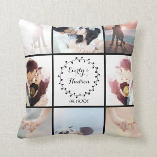9 of Your Instagram Photos Here Throw Pillow