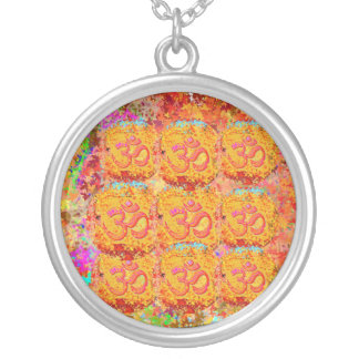 9 Om Mantra Images representing NAV DURGA Round Pendant Necklace