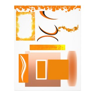 9 Orange Element Pads Template Event Flyer