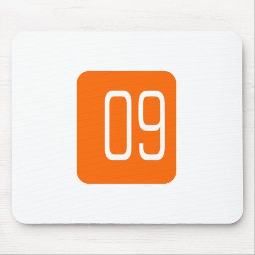#9 Orange Square Mouse Pad