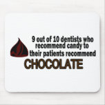 9 Out Of 10 Dentist Recommend Chocolate Mouse Mats