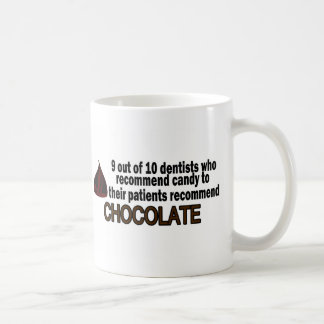 9 Out Of 10 Dentist Recommend Chocolate Classic White Coffee Mug