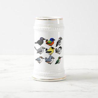 9 pájaros surorientales del patio trasero de los jarra de cerveza