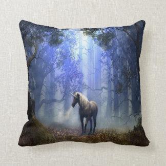 #9-Palamino coloured unicorn Throw Pillow