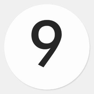 9 PEGATINA REDONDA