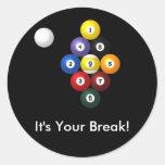 9 pegatinas del estante de la bola etiquetas redondas