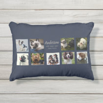 9 PET Photo Collage Instagram Gift Personalized Outdoor Pillow