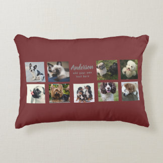 9 PET Photo MEMORIAL Collage Instagram Gift Accent Pillow