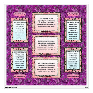 9 Photo Collage - Personalized - Violet Wall Sticker