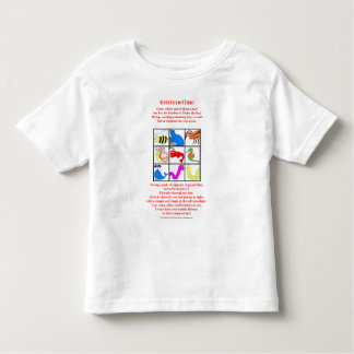 9 pic collage In the Garden or under the Sea Toddler T-shirt
