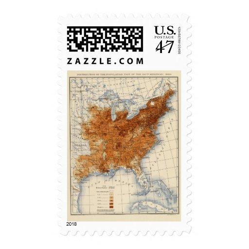 9 población 1860 sello postal