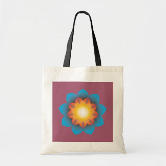 9-Point Lotus Flower Budget Tote Bag
