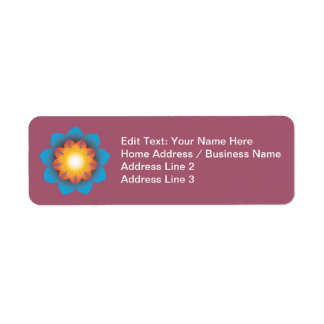 9-Point Lotus Flower Label