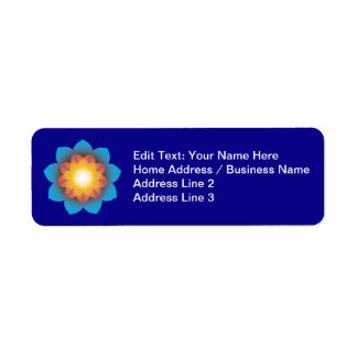 9-Point Lotus Flower Return Address Labels