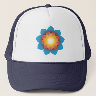 9-Point Lotus Flower Trucker Hat