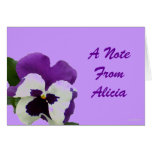 9 Purple White Painted Pansy Greeting Cards