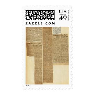 9 recortes sello postal