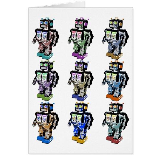 9 Robots Coloured Card