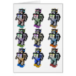 9 Robots Coloured Cards