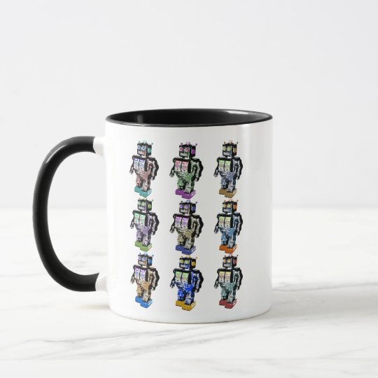 9 Robots Coloured Mug