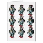 9 Robots Greeting Card