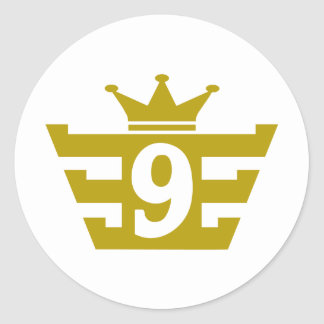 9-Royal.png Classic Round Sticker