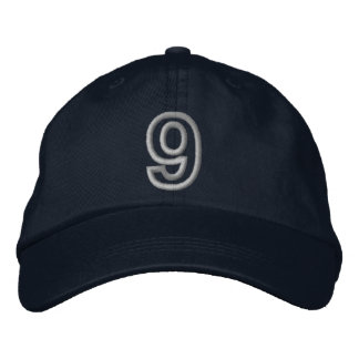 """""""9"""" Small Athletic Number Cap"""