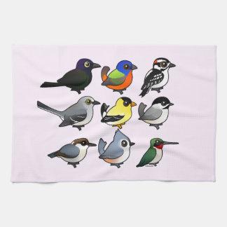 9 Southeast USA Backyard Birds Hand Towels