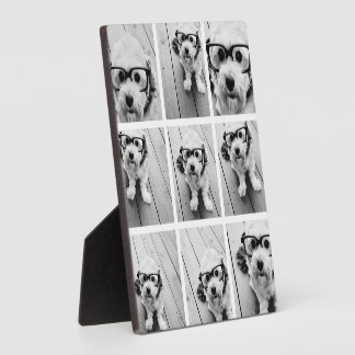 9 Square Photo Collage - Black and White Display Plaque