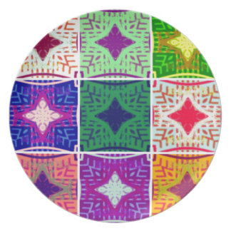 9 star Hakuna matata pattern Melamine Plate